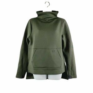 Under Armour Womens Green Olive Long Sleeves Pullover Activewear Top Size Small
